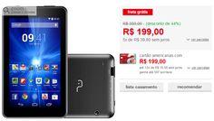 """Tablet Multilaser M7-i NB190 8GB Wi-FI Tela 7"""" Android 4.4 << R$ 19990 em 5 vezes >>"""