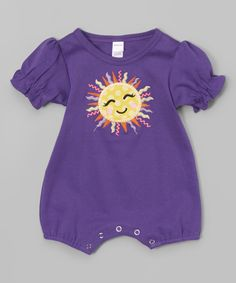 Look at this Petunia Petals Purple Sun Romper - Infant on #zulily today!