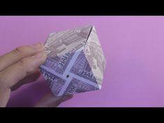money origami box easy xếp hộp lập phương bằng tiền | gấp giấy origami - YouTube