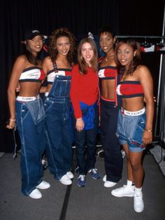 Destiny's Child and Scarlett Johansson in full Tommy Hilfiger regalia. Let's guess the year. '97?