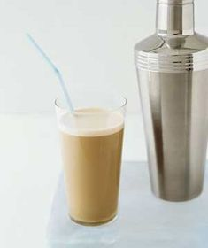 Cocktail Shaker as Iced Coffee Maker...  Upgrade your ice coffee by preparing it in a martini shaker. Fill it with coffe, ice, millk, sugar and flavoring and shake for a frothy, evenly blended caffeine fix.