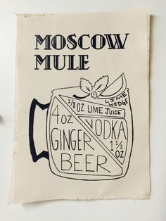 Moscow Mule Recipe - Canvas Print