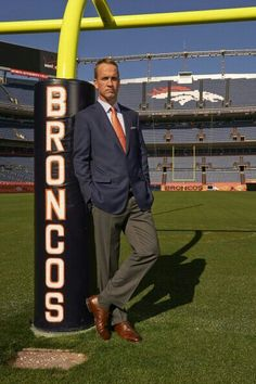 Peyton Manning. @Wendolyn Yang, see how good he looks in orange and blue :3