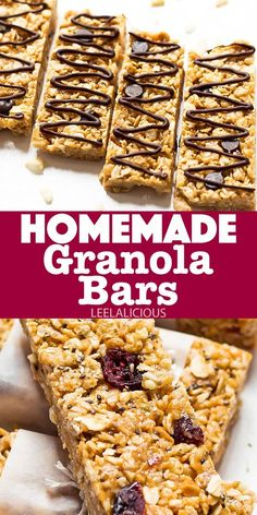 This healthy granola bar recipe is quick and easy to make, and perfect for involving children in the kitchen. These bars are no-bake and also incredibly versatile, so you and your family can customize them to your tastes. Healthy Granola Bars, Homemade Granola Bars, Healthy Cereal, Snack Recipes, Healthy Recipes, Healthy Snacks, Dessert Recipes, Best Comfort Food, Comfort Foods