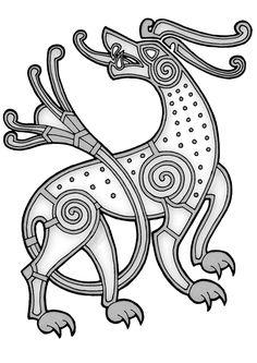 Risultati immagini per viking style drawing Art Viking, Viking Symbols, Celtic Tribal, Celtic Art, Norse Tattoo, Celtic Tattoos, Celtic Patterns, Celtic Designs, Viking Knotwork