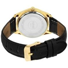 @Overstock - Keep track of time in style with this chic August Steiner watch. The gold hands and Arabic numbers make for easy time-telling, and the leather strap ensures safe wear. Perfect as a day or evening accessory, you can never go wrong with this watch.http://www.overstock.com/Jewelry-Watches/August-Steiner-Womens-Leather-Strap-Watch/5707504/product.html?CID=214117 $57.59