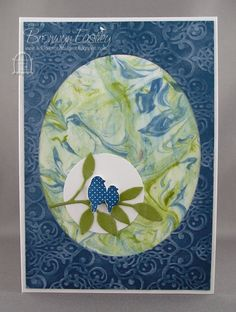 Shaving Foam Technique 1 by BronJ - Cards and Paper Crafts at Splitcoaststampers