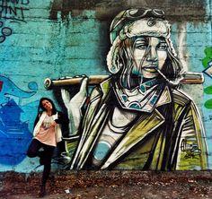 Alice Pasquini - Rome (IT) @alicepasquini #streetart
