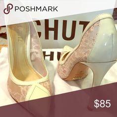 """Schultz """"Khamy"""" heels Nude/Pearl Size 7 SCHUTZ Shoes Heels"""