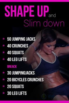 Shape-up and Slim down at home for women. : #ab_workouts