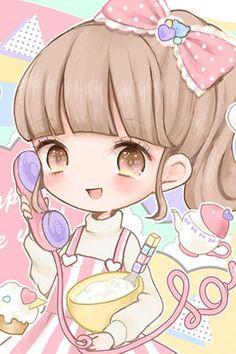 Cute Anime Chibi, Kawaii Chibi, Kawaii Anime Girl, Art Kawaii, Kawaii Doll, Manga Drawing, Manga Art, Anime Art, Manga Illustration