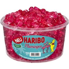 "1 Container x HARIBO ""Flamingos"" 1,2kg / 2.65lbs **NEW 2016**"