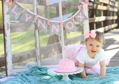 Pink Gray Gold and Silver. SHABBY CHIC BANNER by SweetGeorgiaSweet. Smash cake photo session. 1st Birthday Photo Shoot.