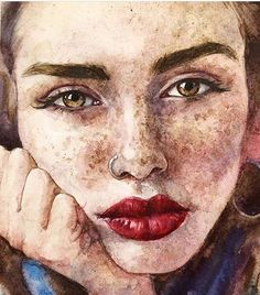Good Screen portrait drawing painting Popular There are plenty of options for painting portraits. Watercolor Face, Watercolor Portraits, Simple Watercolor, Tattoo Watercolor, Watercolor Trees, Watercolor Landscape, Watercolor Animals, Watercolor Background, Abstract Watercolor