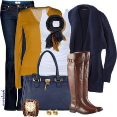Mustard and Navy – Style Inspiration!