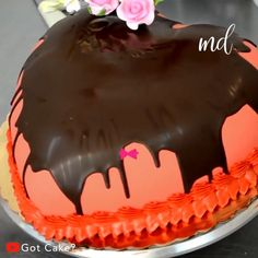 This cake is too pretty to cut! I kinda just want to stare at it. Credit: Got Cake? Tortas Deli, Mini Cakes, Cupcake Cakes, Yummy Treats, Sweet Treats, Cake Recipes, Dessert Recipes, Heart Shaped Cakes, Unique Desserts