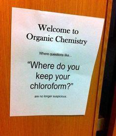 organic chemistry joke