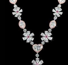 Flower Motif Necklace by David Morris.
