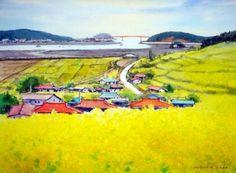 선학동으 봄  watercolor by insung Jung