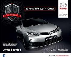 Toyota Mauritius Ltd - Toyota Corolla. Tel: 405 6400