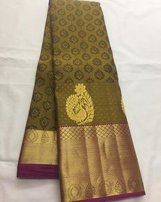 Pure Kanchipuram silk sarees colour ✨Brown Shipping free in India  Price on request . . .. ... To buy , please direct message #tamilwedding #puresilk #bridalsarees #toronto #jari #silksarees #silks #saree #tamilwedding #weddingtimes #weddingdress #weddingsaree #uksarees #uk#tradional