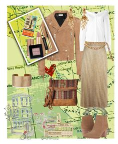 """City by the Bay"" by klm62 ❤ liked on Polyvore featuring Yves Saint Laurent, Theory, River Island, Rembrandt Charms, Pottery Barn, American West, Franco Sarto, Chronicle Books, Panacea and Chanel"