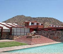Taliesin West in Arizona--Frank Lloyd Wright's #architecture school and winter home.