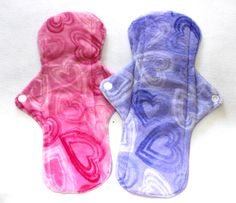 2 SOFT 11'' Minky Menstrual Sanitary Cloth Pads ! Washable and Reusable! Regular to Heavy Flow!, $18.00