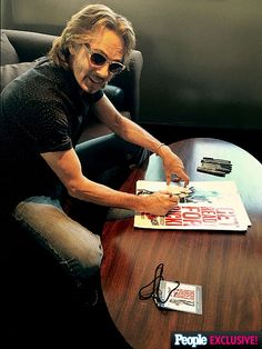 One Very Cool Day in the Life of Rick Springfield | | Lucky fans took home Ricki and the Flash posters signed by the man himself.