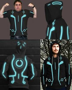 Glowing Tron hoodie? Pleeaase! Seriously how fun would this be?!
