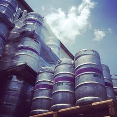 It's a beautiful day to fill some kegs. #AbitaBeer