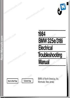 bmw 318i 325e electrical troubleshooting manual 1984