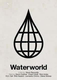 Piktogramm Filmposter: WATERWORLD
