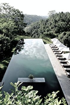 Infinity pool at Alila Ubud hotel, Bali, Indonesia (photo by Régis Cariou) Buy a day pass and hang out at this beautiful Bali hotel! // Cheap Things to Do in Bali, Beautiful World, Beautiful Places, Cool Pools, Awesome Pools, Ubud, Pool Designs, Oh The Places You'll Go, Dream Vacations, Outdoor Living