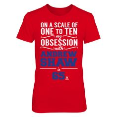 Andrew Shaw - Obsession Level T-Shirt  Andrew Shaw Official Apparel - this licensed gear is the perfect clothing for fans. Makes a fun gift!  AVAILABLE PRODUCTS District Women's Premium T-Shirt - $29.95   District Women District Men Next Level Women Gildan Unisex Pullover Hoodie Gildan Long-Sleeve T-Shirt Gildan Fleece Crew View sizing / material info This is a fitted female style. For a true fit order size up. ...