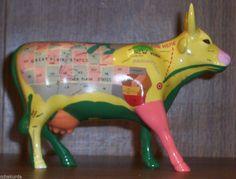 3ea08e21e6b Cow Parade 9162 MAP COW Retired Ceramic New York Great Plains States 2000