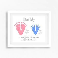 Hey i found this really awesome etsy listing at httpsetsy the perfect gift for a special dad featuring the footprints of your children this precious print is sure to make a beautiful quirky gift for that special solutioingenieria Gallery