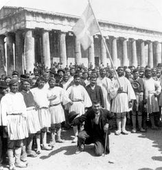 1897 - Recruits for the Army, Before the Temple of Theseus, Athens, Greece    Source: Library of Congress LC-USZ62-65949 Family History Research Tools for Greek Genealogy: