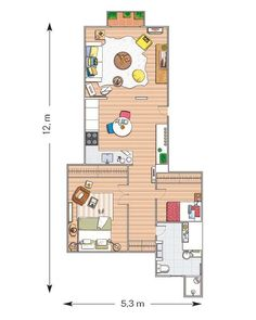 Madrid, House Inside, Decoration, Floor Plans, Flooring, How To Plan, Case, Country, Tiny Houses