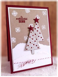 """Christmas Card used Stampin Up """"Festival of Trees"""""""