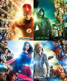 Dc Comics Series, Supergirl, Montages, Movie Posters, Movies, Fictional Characters, Arrow, Posters, Collages
