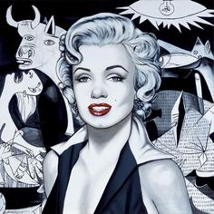 Marilyn dans l'Art - Page 4 - Divine Marilyn Monroe Guernica, Warhol, Art Marilyn Monroe, Klimt, Pop Art, Arte Pop, Art Pages, Watercolor And Ink, Movie Stars