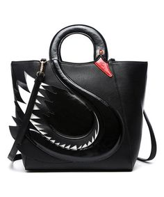 This Black Swan Tote is perfect!  zulilyfinds Satchel 20ab4a5a6fbb6