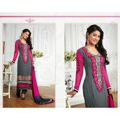Black & Pink Anarkali Salwar Suit