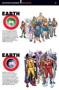 DC Multiverse Earth 34 and 35 Marvel Dc Comics, Dc Comics Superheroes, Dc Comics Characters, Dc Comics Art, Marvel Vs, Comic Movies, Comic Books Art, Comic Art, Comics Und Cartoons