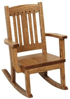 Amish Grant Child's Rocker A special seat for a special child, the Grant is a place they can sit to watch TV or read a fun book. Solid wood and handcrafted in America. #kidsfurniture #kidsrocker