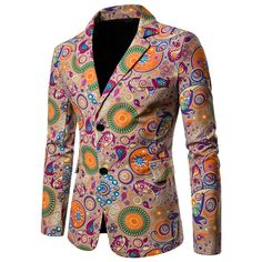 Cartoon Floral Sports Jacket In Green