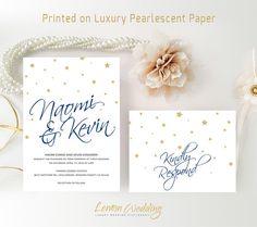Wedding Invitation sets printed on luxury shimmer paper | Traditional wedding invitations kits | Personalized wedding invitations cheap