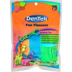 Dentek Fun Flossers Wild Fruit Floss Picks, 75 count, Assorted