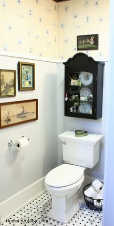 HometoCottage.com - Powder Room Makeover, Step by Step